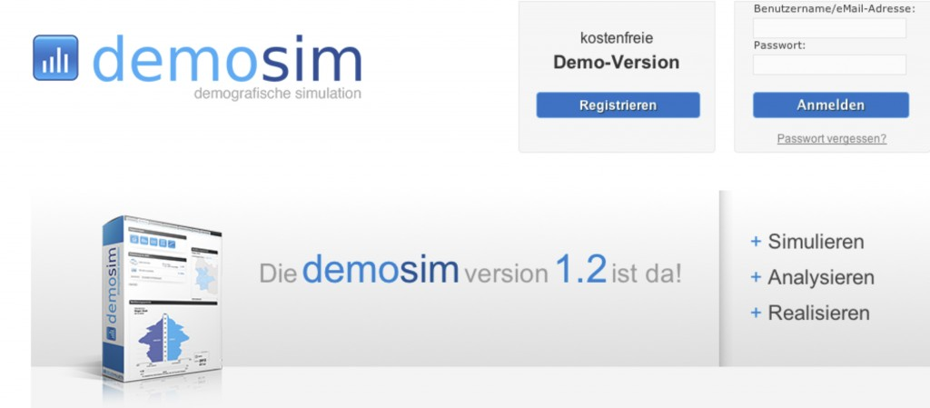 Screenshot demosim Version 1.2